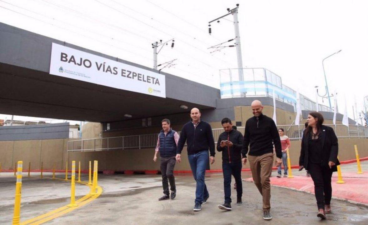 Dietrich y Molina inauguraron el bajo vías de Ezpeleta, un año atrás