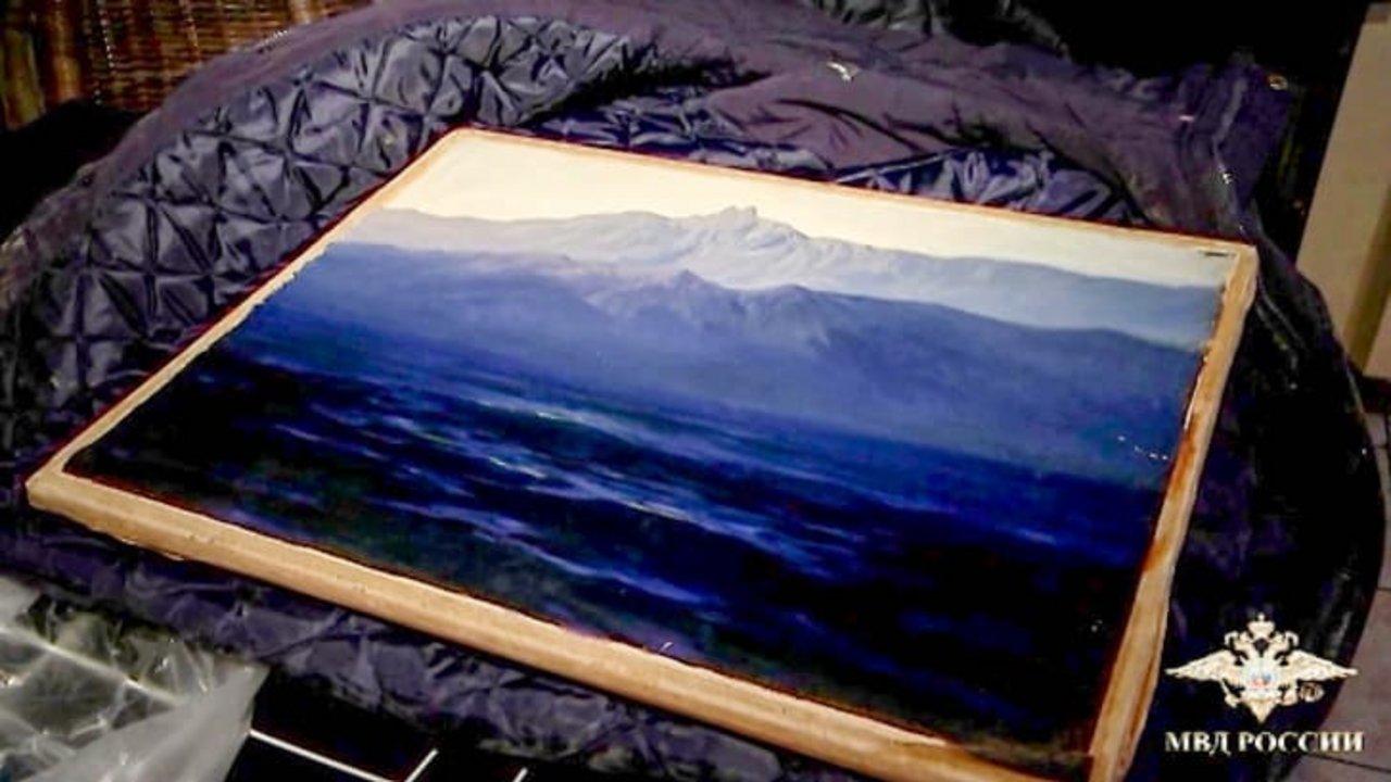 La pintura, llamada Ai-Petri.Crimea, pertenece al paisajista ruso Arkhip Kuindzhi y está valorada en un millón de dólares