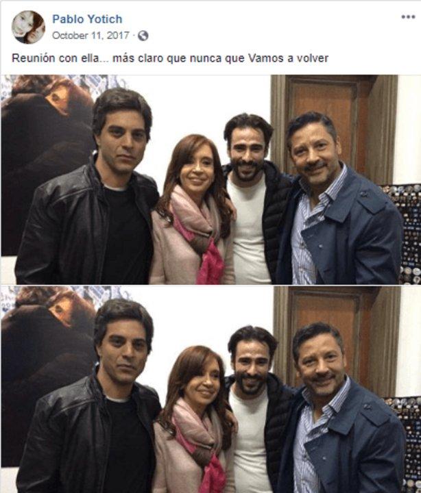 Yotich, Ménedez y CFK