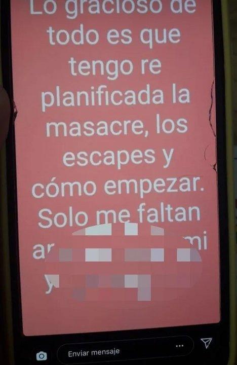 Estudiante de Lomas de Zamora amenazó con hacer una masacre